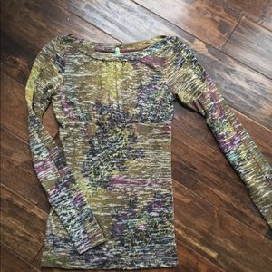 Free People multicolored top xs